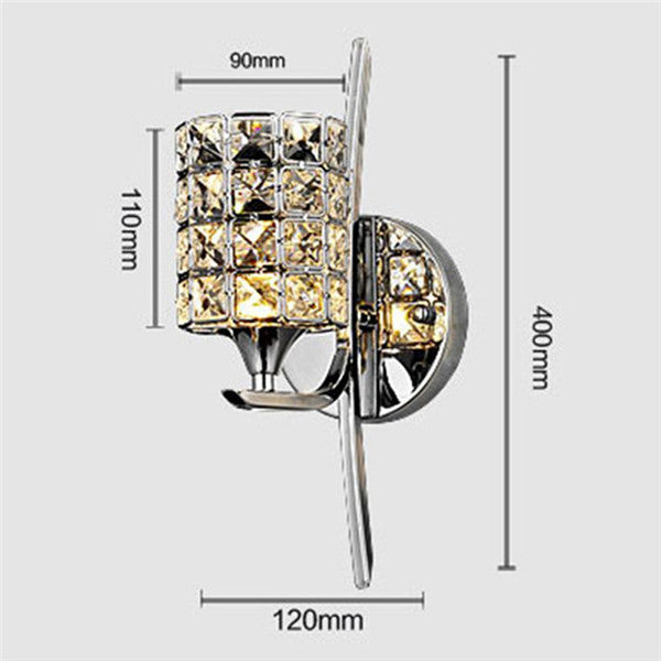 Modern Luxury Crystal Chrome Wall Sconces WL6