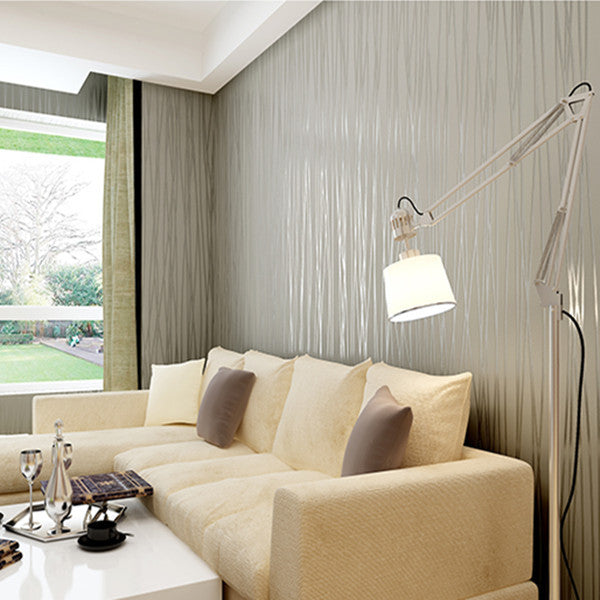 Thin Vertical Stripes Non-woven Flocking Wallpaper WP116