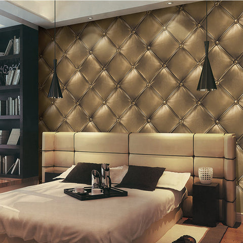 Luxury Textured Faux Leather 3D Effect Wallpaper WP135