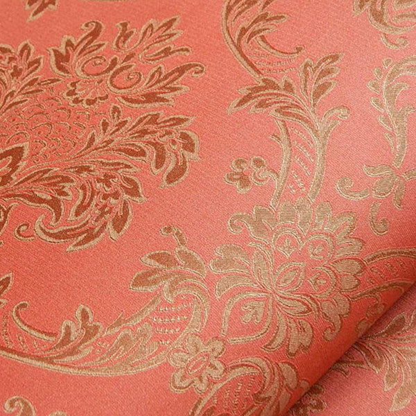 Vintage Luxury Damask Textured Embossed Wallpaper WP136