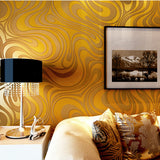 Abstract Curve Striped 3d Mural Wallpaper