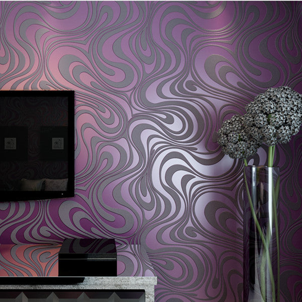 Abstract Curve Striped 3d Mural Wallpaper - Cheerhuzz