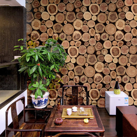 Barn Faux Grain Plank Wood boards Effect Wallpaper WP117
