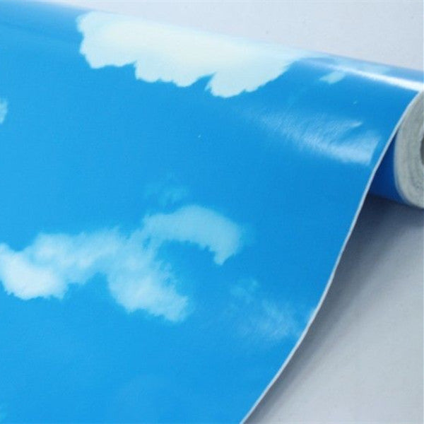 White Clouds Blue Sky Prepasted Self-adhesive Wallpaper WP140