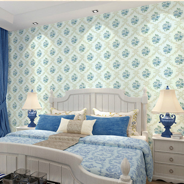 Romantic Victorian Damask Bedroom Wallpaper WP144 - Cheerhuzz