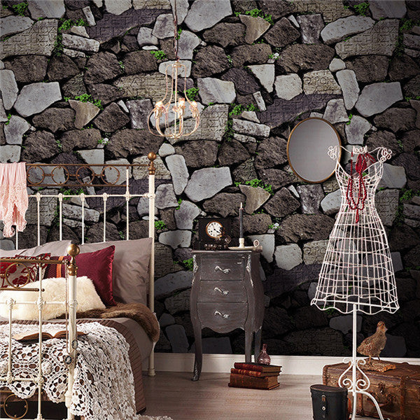 Rustic Stone Embossed 3D Wallpaper WP217 - Cheerhuzz