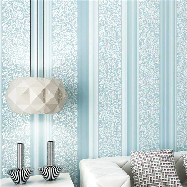 3D Vertical Stripes Non-woven Fabric Wallpaper WP219