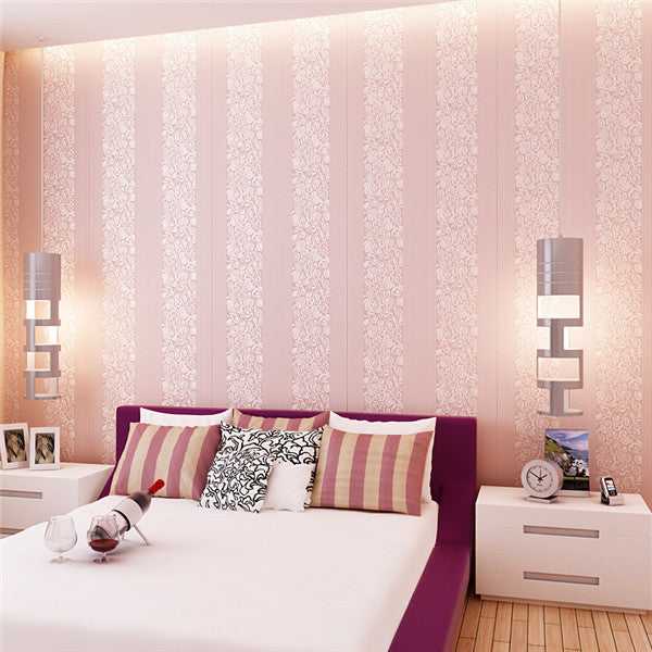 3D Vertical Stripes Non-woven Fabric Wallpaper WP219 - Cheerhuzz
