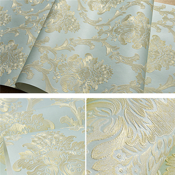 Damask Textured Embossed Wallpaper WP225
