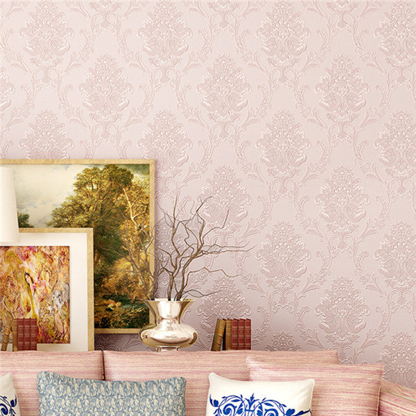 Damask Textured Embossed Wallpaper WP225 - Cheerhuzz
