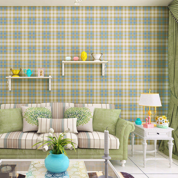 Vintage Plaid Wallpaper WP27 - Cheerhuzz