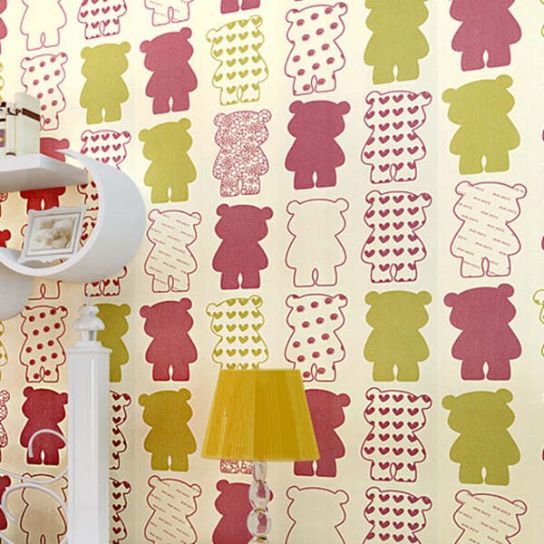 Non-Woven Bear Wallpaper WP36