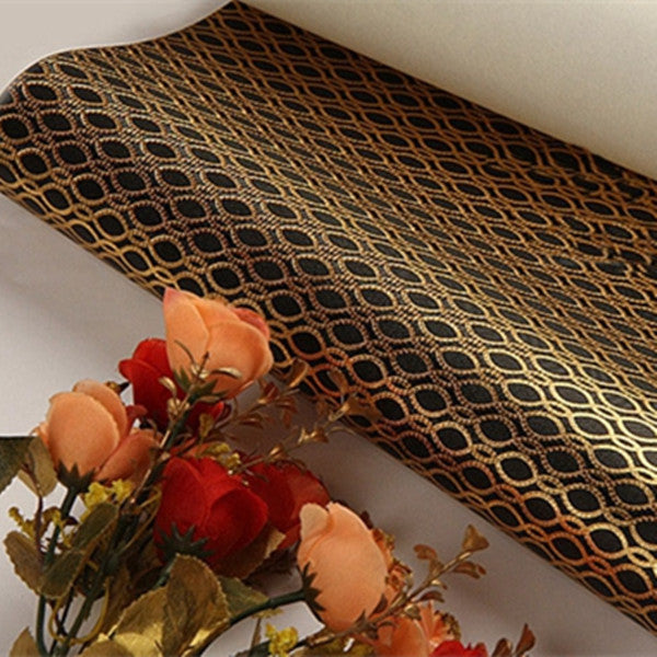 gold foil wallpaper roll WP59