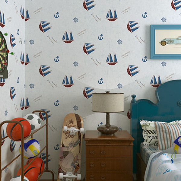 Catoon Pirate Pattern Wallpaper WP68 - Cheerhuzz