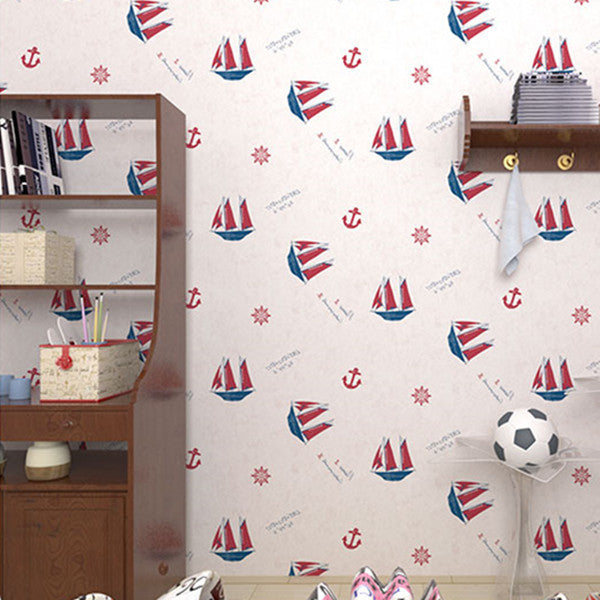 Catoon Pirate Pattern Wallpaper WP68