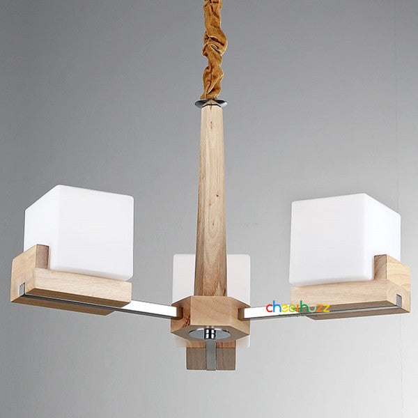 Wooden Style Glass Chandelier PL255