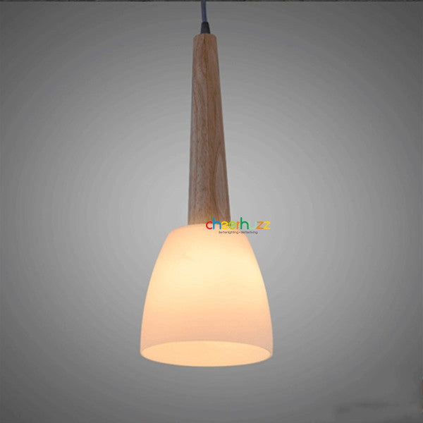Wooden Glass Chandelier PL356 - Cheerhuzz