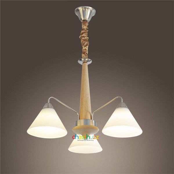 Wooden Glass Pendant Lamp PL360 - Cheerhuzz