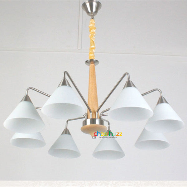 Wooden Glass Pendant Lamp PL360