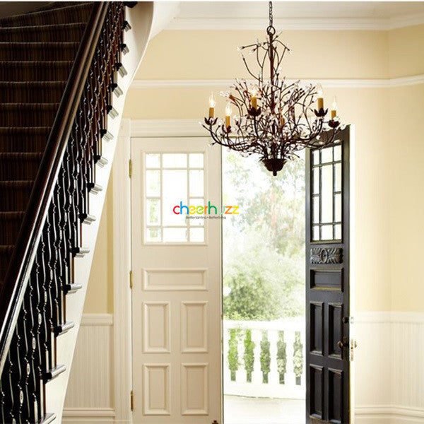Crystal Iron Chandelier PL361