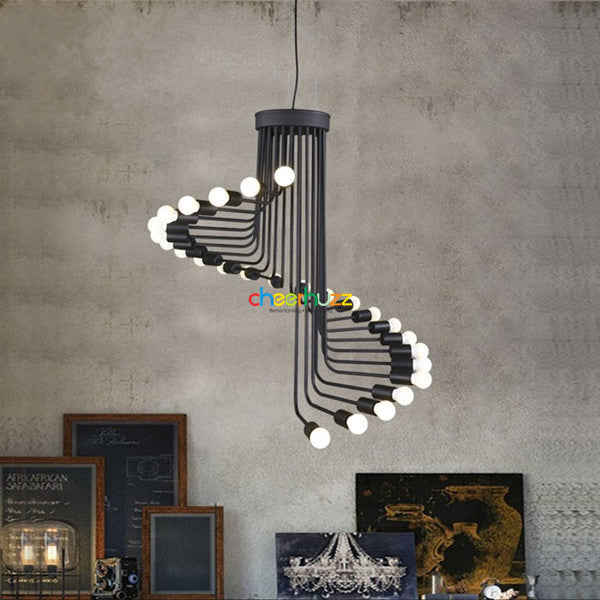 Black Spiral Pendant Light PL367