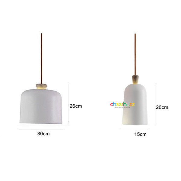 Traditional Nordic Wooden Bar Pendant Lamp PL414