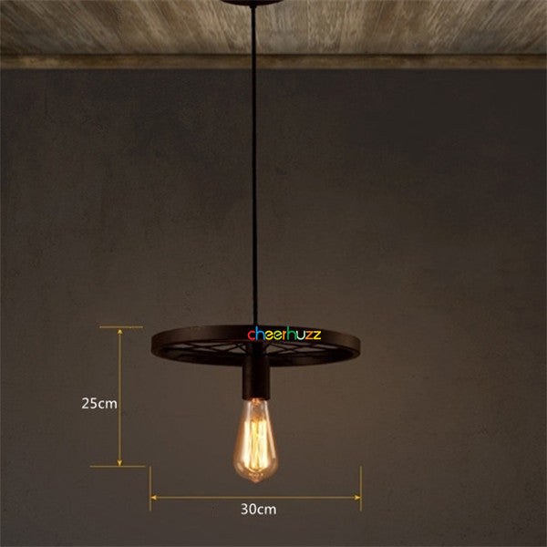 Industrial Iron Wheel Vintage Pendant Lamp PL417