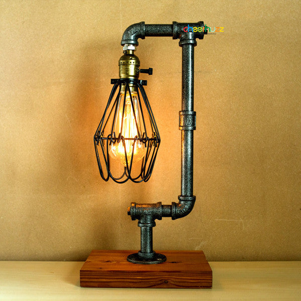 Dimming Vintage Industrial Retro Pipe Table Lamp TL136 - Cheerhuzz