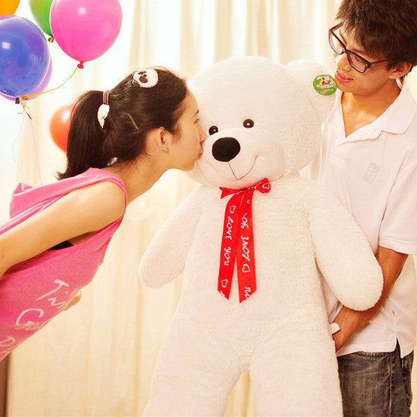 THE White TEDDY BEAR PLUSH STUFFED TOY - Cheerhuzz