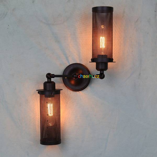 2 Adjustable Head Vintage Wall Sconce TL187