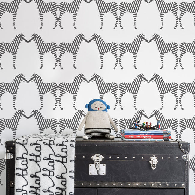 Zee Charcoal Wallpaper By Sissy + Marley WP205