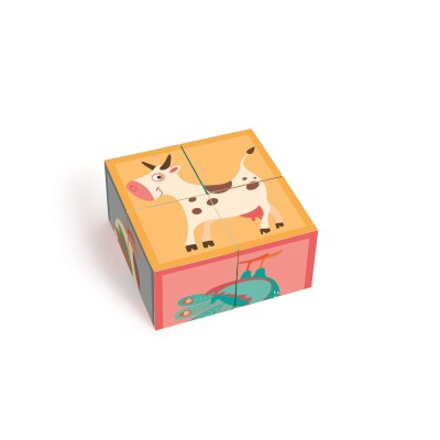Puzzle Farm 4 Blocks Cardboard Scratch