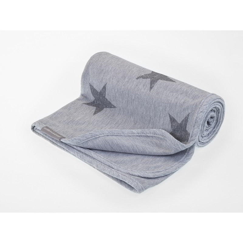 Manta Algodón Reversible Grey Stars Cottonmoose