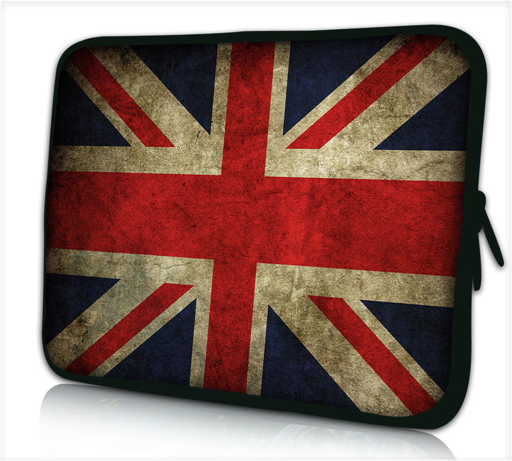 "17""- 17.3"" (inch) LAPTOP SLEEVE CARRY CASE/BAG NEOPRENE FOR LAPTOPS/NOTEBOOKS, ZIPPED *dirty england*"
