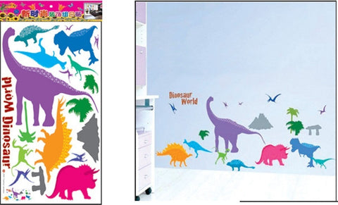 WALL STICKERS, BEDROOM WALL STICKERS, BEDROOM DECOR FOR BOYS & GIRLS ***DINOSAURS***