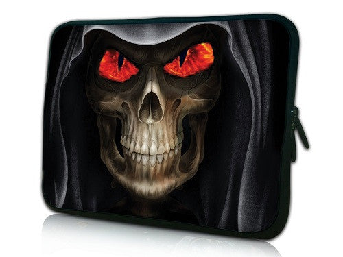 "15""- 15.6"" (inch) LAPTOP SLEEVE CARRY CASE/BAG NEOPRENE FOR LAPTOPS/NOTEBOOKS, ZIPPED*SKULL RED EYE*"