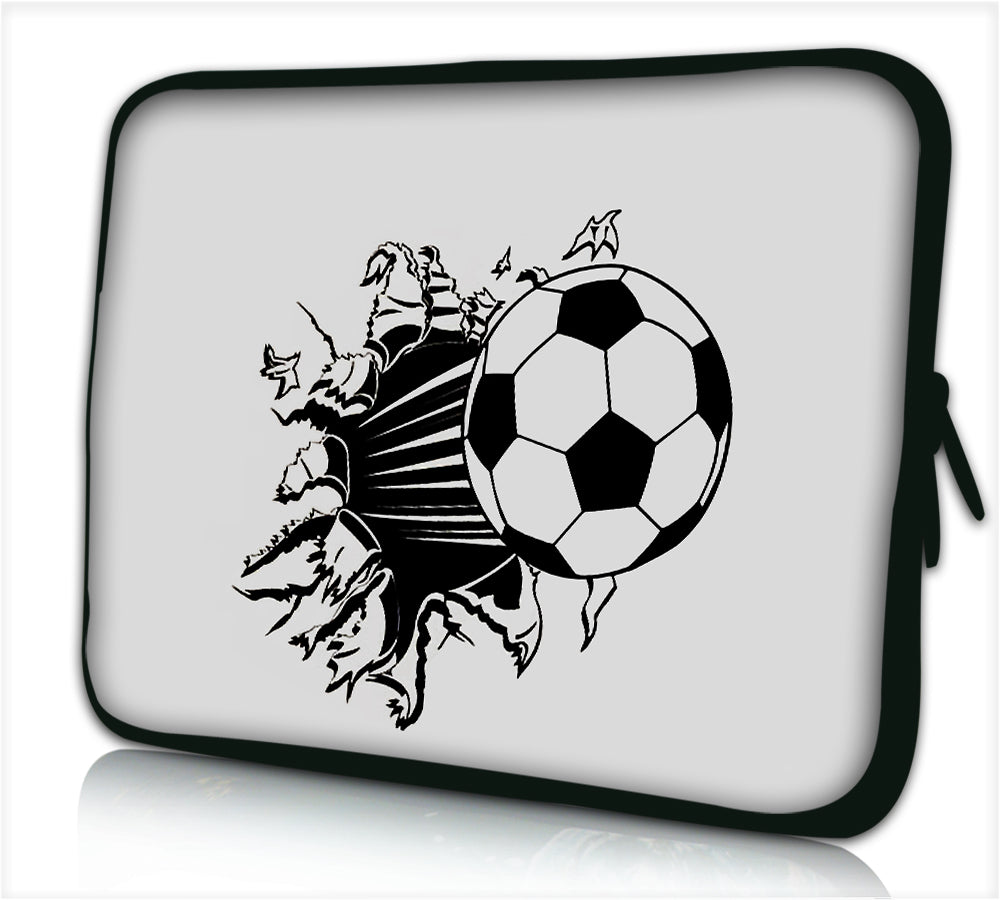 "17""- 17.3"" (inch) LAPTOP SLEEVE CARRY CASE/BAG NEOPRENE FOR LAPTOPS/NOTEBOOKS, ZIPPED *football*"