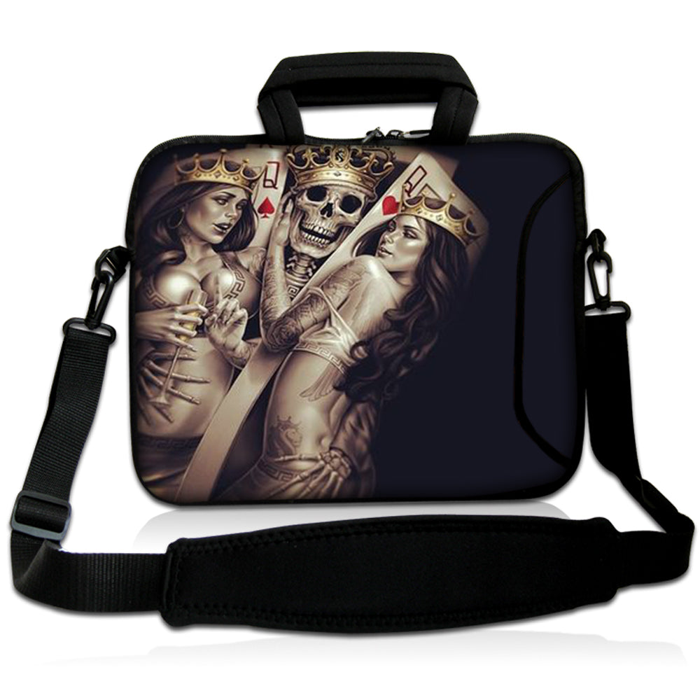 "15""- 15.6"" (inch) LAPTOP BAG CARRY CASE/BAG WITH HANDLE & STRAP NEOPRENE FOR LAPTOPS/NOTEBOOKS, *TWO QUEENS*"