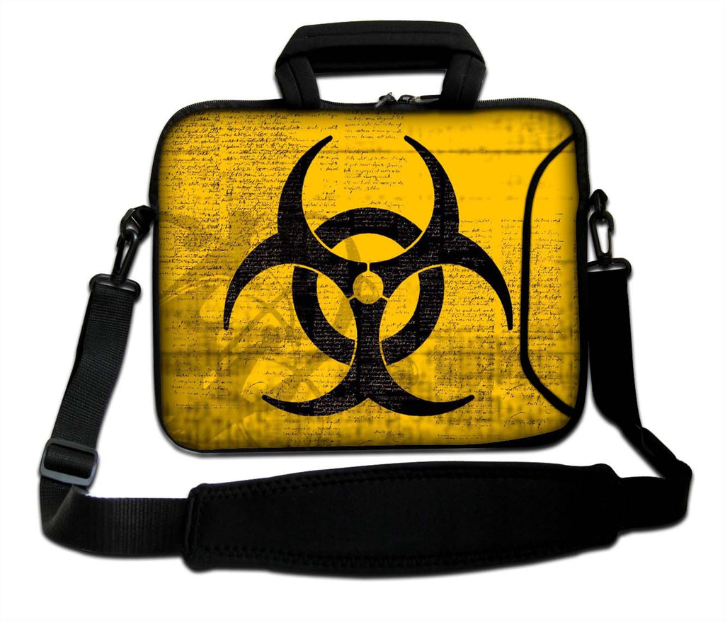 "15""- 15.6"" (inch) LAPTOP BAG CARRY CASE/BAG WITH HANDLE & STRAP NEOPRENE FOR LAPTOPS/NOTEBOOKS, *RADIOACTIVE*"