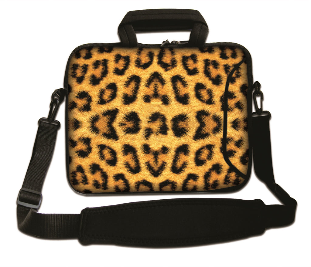 "17""- 17.3"" (inch) LAPTOP BAG/CASE WITH HANDLE & STRAP, NEOPRENE MADE FOR LAPTOPS/NOTEBOOKS, ZIPPED*PANTHER PATTERN*"
