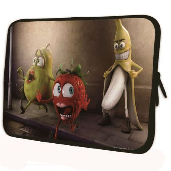 "15""- 15.6"" (inch) LAPTOP SLEEVE CARRY CASE/BAG NEOPRENE FOR LAPTOPS/NOTEBOOKS, ZIPPED*Banana*"