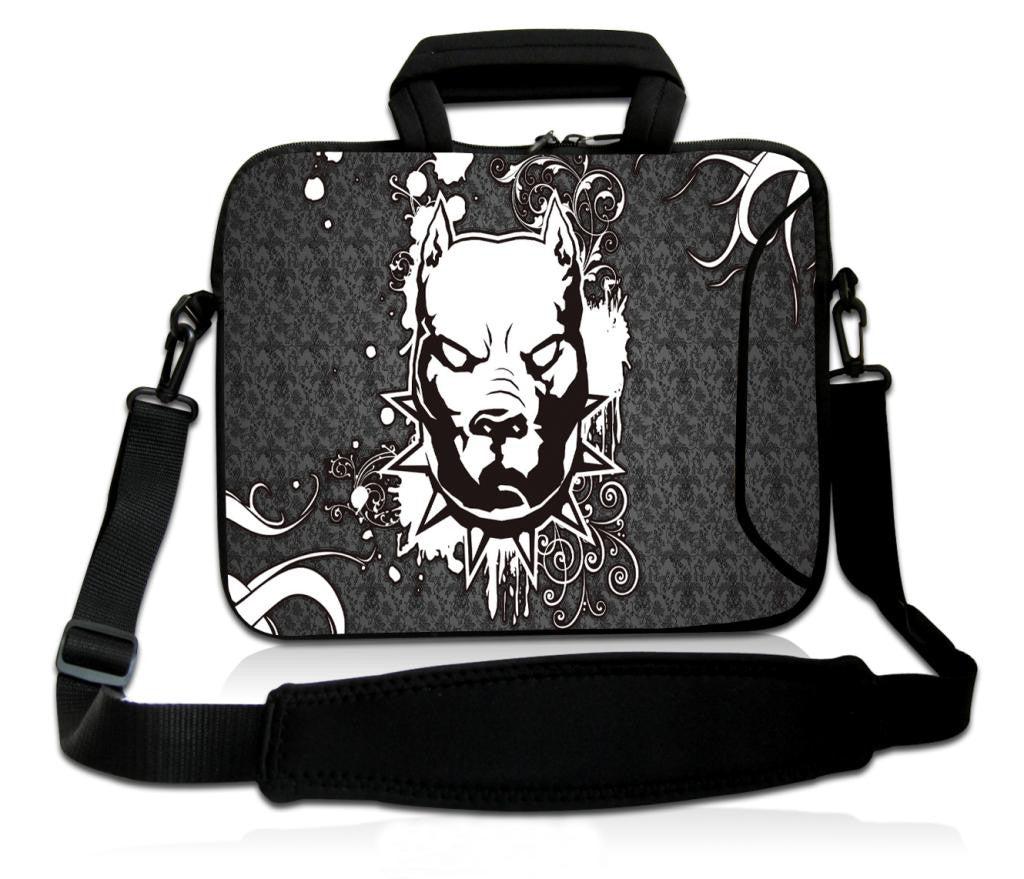 "17""- 17.3"" (inch) LAPTOP BAG/CASE WITH HANDLE & STRAP, NEOPRENE MADE FOR LAPTOPS/NOTEBOOKS, ZIPPED*PITBULL*"