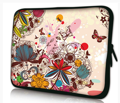 "10 ""inch Tablet Laptop Sleeve Protective Case by Funky Planet Bags/Cases *Flowers&Butterflies*"