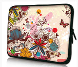"13""- 13.3""inch Tablet Laptop Case Bag Pouch Protective Cover by Funky Planet Bags/Cases * Flowers&Butterflies*"