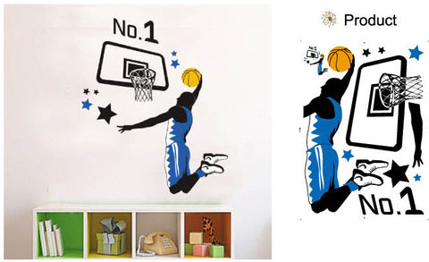WALL STICKERS, BEDROOM WALL STICKERS, BEDROOM DECOR FOR BOYS & GIRLS ***BASKETBALL***