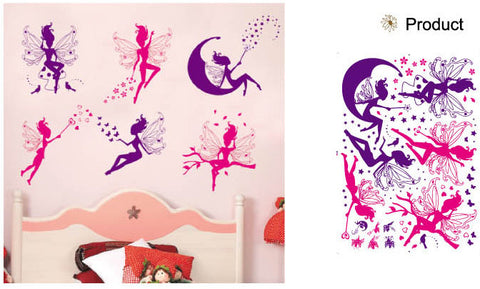 WALL STICKERS, BEDROOM WALL STICKERS, BEDROOM DECOR FOR BOYS & GIRLS ***FAIRIES***