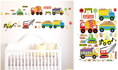 WALL STICKERS, BEDROOM WALL STICKERS, BEDROOM DECOR FOR BOYS & GIRLS ***CARS & TRUCKS***