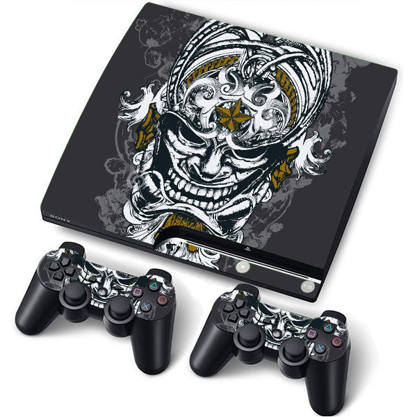 PS3 Slim PlayStation 3 Slim Skin/Stickers PVC for Console + 2 Controllers/Pads Decal Protector Cover ******