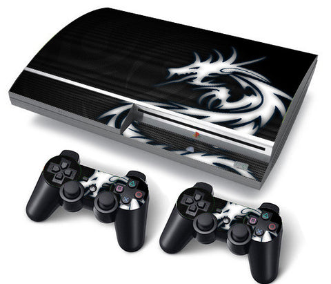 PS3 FAT PlayStation 3 ORIGINAL Skin/Stickers PVC for Console + 2 Controllers/Pads Decal Protector Cover ***Dragon Tribal***