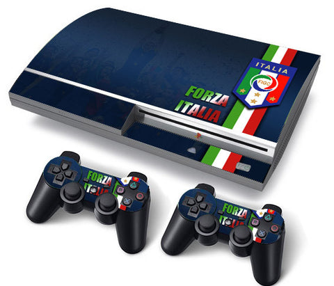PS3 FAT PlayStation 3 ORIGINAL Skin/Stickers PVC for Console + 2 Controllers/Pads Decal Protector Cover ***Italia***